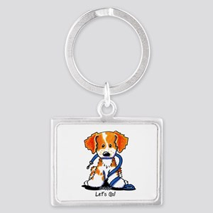 French Brittany Let's Go! Landscape Keychain