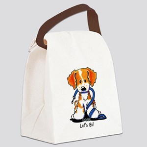 French Brittany Let's Go! Canvas Lunch Bag