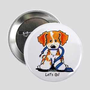 """French Brittany Let's Go! 2.25"""" Button"""