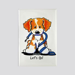 French Brittany Let's Go! Rectangle Magnet