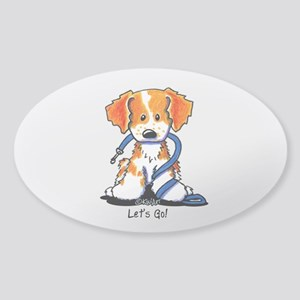 French Brittany Let's Go! Sticker (Oval)
