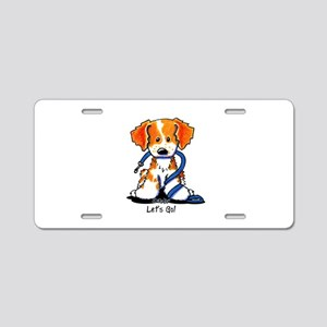 French Brittany Let's Go! Aluminum License Plate