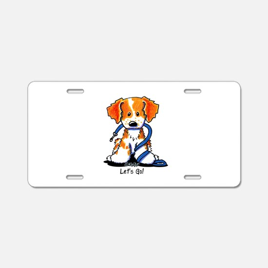 Let's Go! Brittany Aluminum License Plate