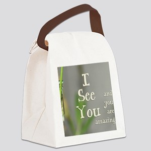 I See You Canvas Lunch Bag