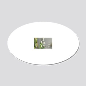 I See You 20x12 Oval Wall Decal