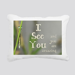 I See You Rectangular Canvas Pillow
