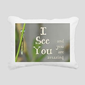 I See You Rectangular Canvas Pillow