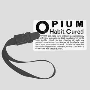 Opium Habit Cured Advertising la Large Luggage Tag