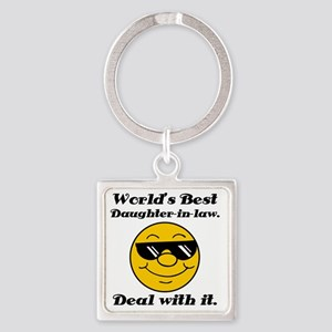 Worlds Best Daughter-In-Law Humor Square Keychain