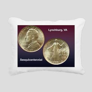 Lynchburg VA Sesquicente Rectangular Canvas Pillow