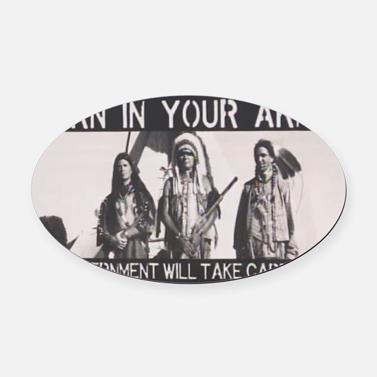 Lessons Learned the Hard Way... Oval Car Magnet