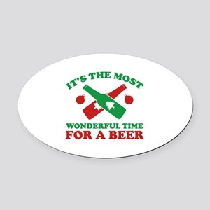 It's The Most Wonderful Time For A Beer Oval Car M