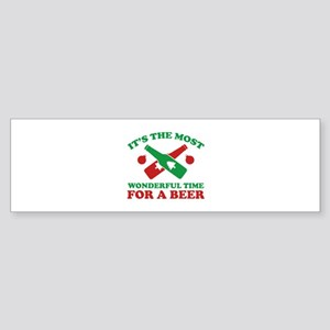 It's The Most Wonderful Time For A Beer Sticker (B