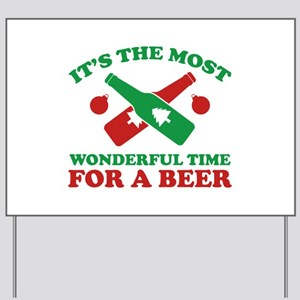 It's The Most Wonderful Time For A Beer Yard Sign