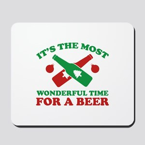 It's The Most Wonderful Time For A Beer Mousepad