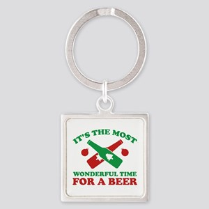 It's The Most Wonderful Time For A Beer Square Key