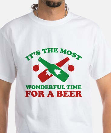 It's The Most Wonderful Time For A Beer White T-Sh