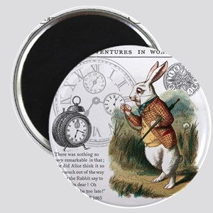 The White Rabbit Alice in Wonderland Tile C Magnet