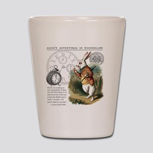 The White Rabbit Alice in Wonderland Ti Shot Glass