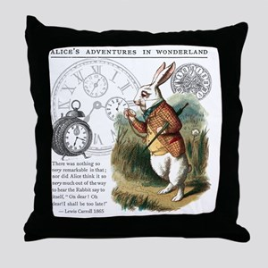 The White Rabbit Alice in Wonderland  Throw Pillow