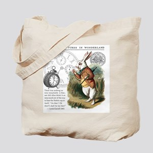 The White Rabbit Alice in Wonderland Tile Tote Bag