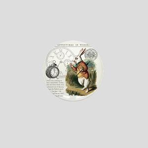 The White Rabbit Alice in Wonderland T Mini Button