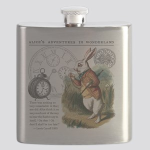 The White Rabbit Alice in Wonderland Tile Co Flask
