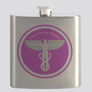 Life is Better Chiropractor/Osteopath Flask
