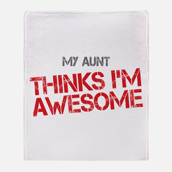 Aunt Awesome Throw Blanket