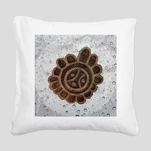 (Sol Taino) Taino Sun, Symbol Square Canvas Pillow
