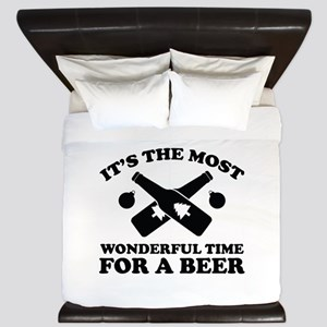 It's The Most Wonderful Time For A Beer King Duvet