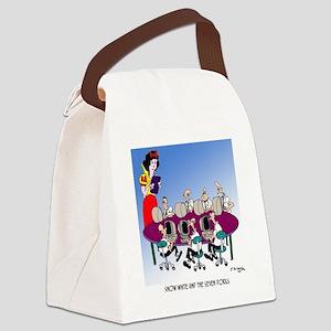 Snow White  The Seven Dorks Canvas Lunch Bag