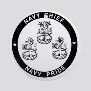 Navy Pride Round Ornament