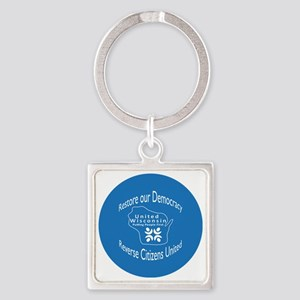 Restore our Democracy Square Keychain