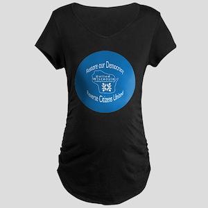 Restore our Democracy Maternity Dark T-Shirt