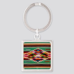 Southwest Weaving Square Keychain