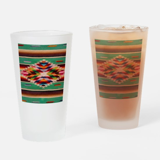 Southwest Weaving Drinking Glass