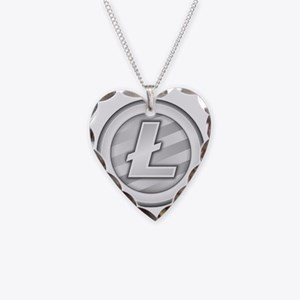 LiteCoin Necklace Heart Charm