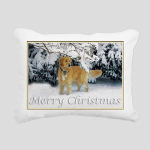 Golden Retriever Merry C Rectangular Canvas Pillow