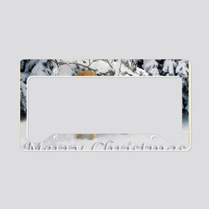 Golden Retriever Merry Christ License Plate Holder