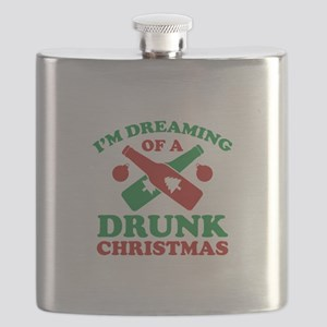 I'm Dreaming Of A Drunk Christmas Flask