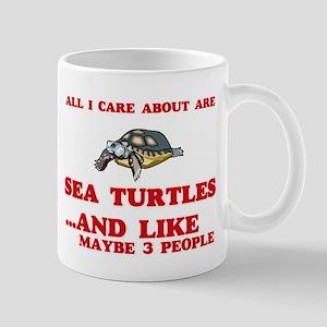 All I care about are Sea Turtles Mugs