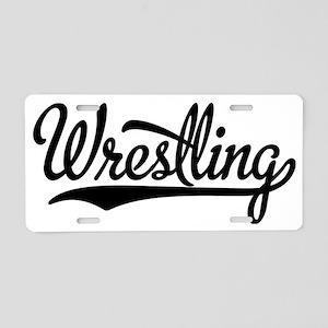 Wrestling Aluminum License Plate