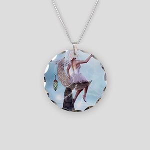 Stars Fairy Necklace Circle Charm