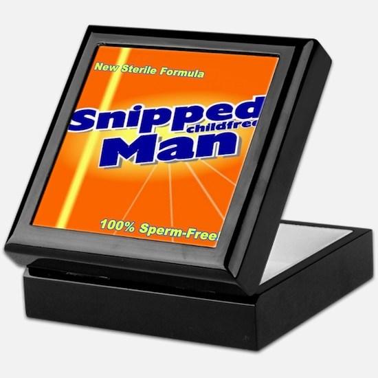 Snipped Man Keepsake Box