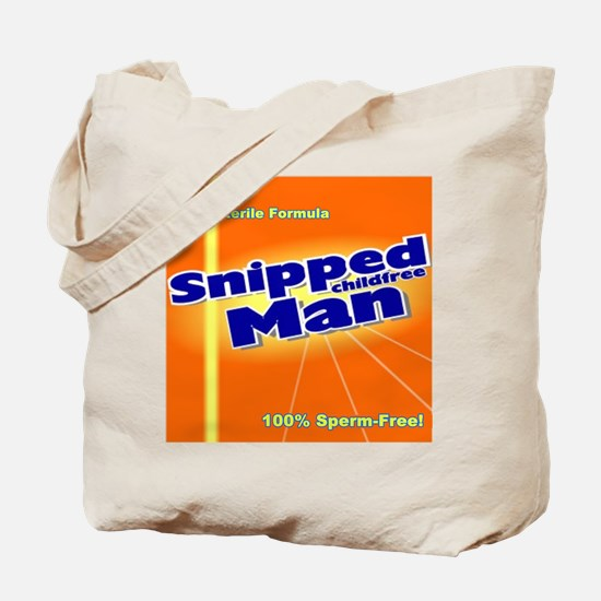 Snipped Man Tote Bag