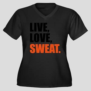 Live love sw Women's Plus Size Dark V-Neck T-Shirt