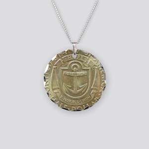 Providence RI Tercentenary H Necklace Circle Charm