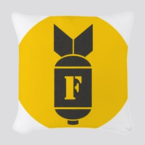 F Bomb Woven Throw Pillow