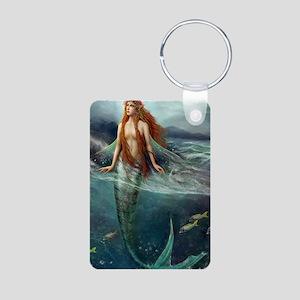 Mermaid of Coral Sea Aluminum Photo Keychain